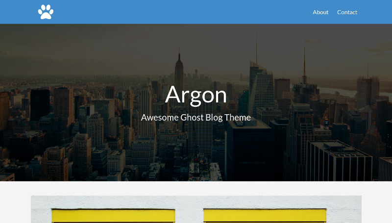 Argon - Awesome Ghost Blog Theme