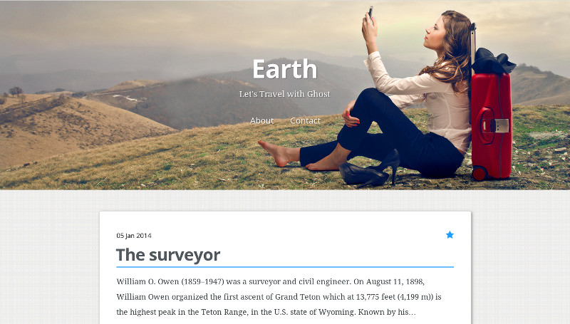 Earth - A Clean & Responsive Ghost Theme