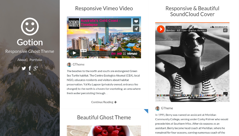Gotion - Fully Responsive Ghost Theme