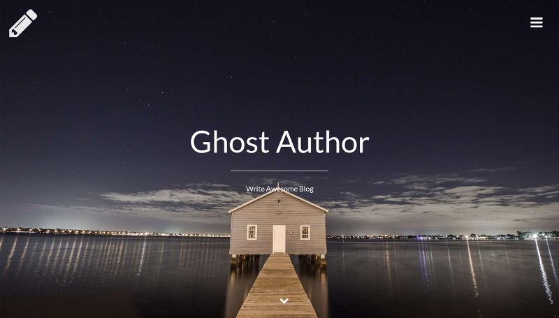 Ghost Author - Modern Ghost Theme