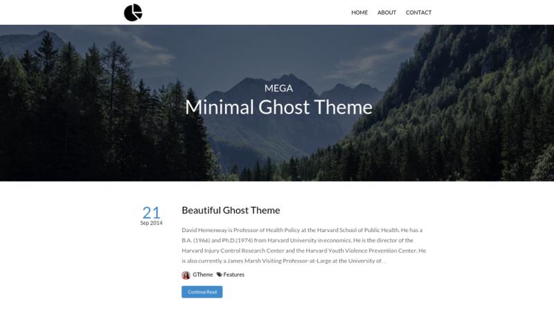 Mega - Minimal Responsive Ghost Theme