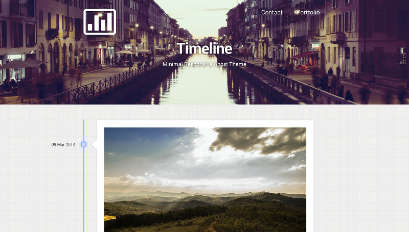Timeline - Minimal Responsive Ghost Theme
