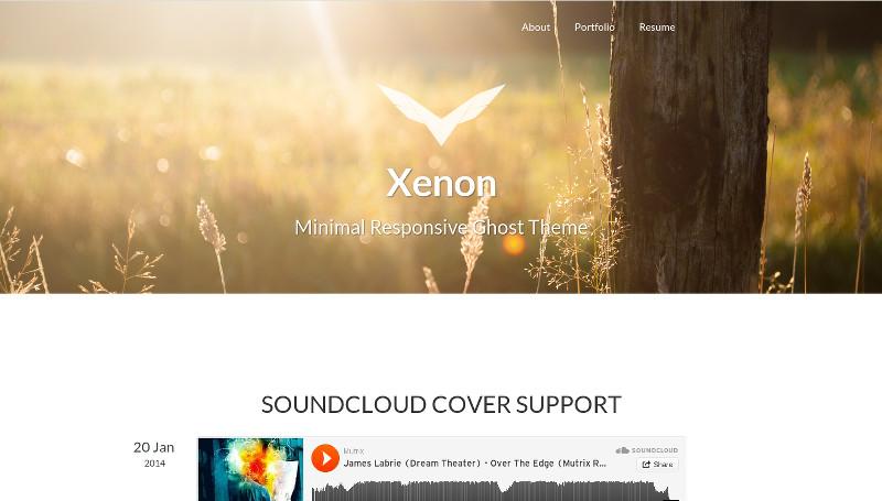 Xenon - Minimal Responsive Ghost Theme