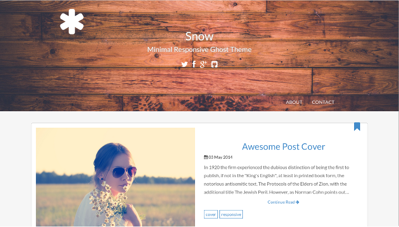 Snow - Minimal Responsive Ghost Theme
