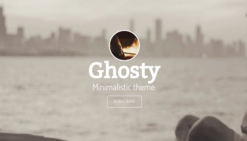 Ghosty - Minimal and responsive theme for Ghost bloggers.
